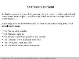 sample cover letter for waitress waitress cover letter sample