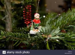 close up of a cute and fun traditional christmas tree ornament in
