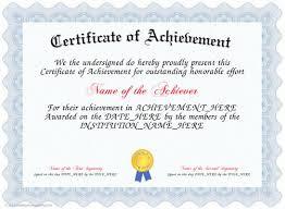 certificate achievement template certificate of achievement