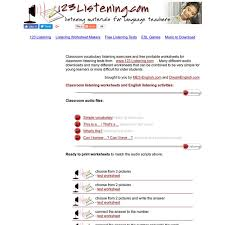 classroom listening activities english listening worksheets for