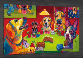 2017 hd canvas print home decor wall art painting no framed dogs