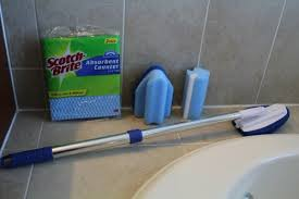 Best Bathroom Cleaner Reusable Bathroom Cleaning Tools From Scotch Brite Review