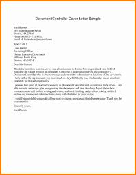 document controller sample resume related for 11 cv cover letter