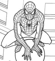 marvel spiderman coloring pages cartoon coloring pages