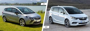 opel zafira 2018 vauxhall zafira tourer old vs new compared carwow