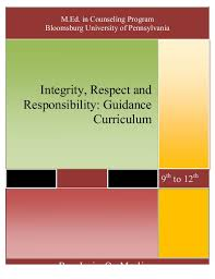 integrity respect responsibility guidance curriculum