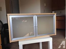 wall shelves with glass doors ikea birch wall cabinet w frosted glass doors for sale in north