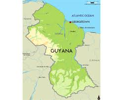 Geographical Map Of South America by Maps Of Guyana Detailed Map Of Guyana In English Tourist Map