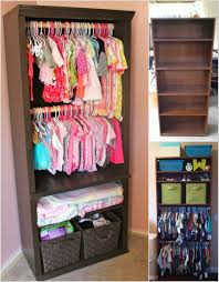 Closet Organizers For Baby Room Re Imagine An Old Bookcase Into A Baby Nursery Closet Great