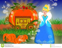 cinderella carriage story stock illustration image 55484995