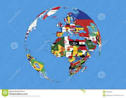 Europe And Asia Map by World Globe Europe Africa And Asia Flags Map Royalty Free Stock