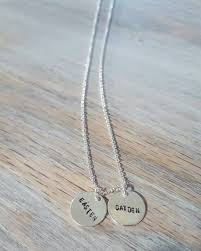 silver name charm necklace images Gold silver name charm necklace for mom bride jpg