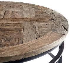 pottery barn bar table reclaimed wood round bar table griffin reclaimed wood bar height