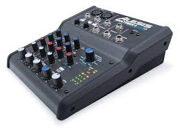 amazon com alesis multimix 4 usb fx 4 channel mixer with