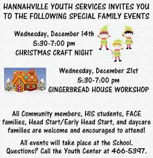 youth services xmas events hannahville community