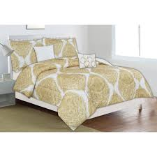 Comforter Sets Images Home Dynamix Classic Trends Yellow Medallion 5 Piece King