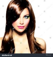 hairstyles for brown hair and blue eyes beautiful brunette girl healthy long brown stock photo royalty free