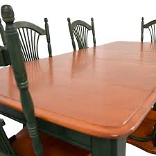 buy dining room furniture 44 off dining table with extension leaf and green chairs tables