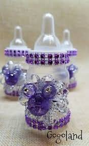 minnie mouse baby shower favors 12 minnie mouse baby shower favors purple baby bottles favors baby