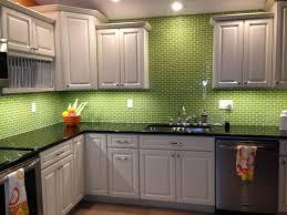green glass tiles for kitchen backsplashes lime green glass subway tile backsplash kitchen kitchen ideas