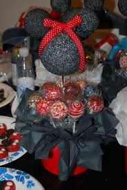 Centerpieces For Minnie Mouse Party by Minnie Mouse Cake Pop Centerpieces Addie U0027s Birthday Pinterest