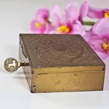 jewelry box with a lock key hindu trinket decorated
