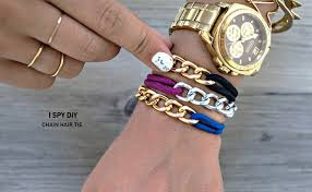diy chains bracelet images My diy chain hair tie jpg