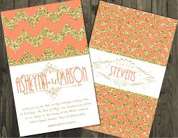 coral and gold wedding invitations gold wedding invitations