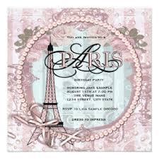 paris party invitations u0026 announcements zazzle