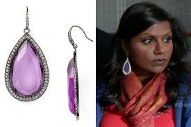 purple drop earrings purple drop earrings like kaling s on the project