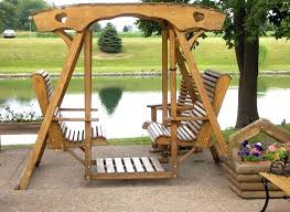 double glider porch swing with stand outdoor glider swing cushions