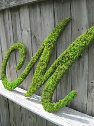 moss covered letters large moss covered letter m rustic wedding sign monogram