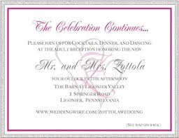 Reception Cards Wording Insert Detail Cards W Invitations Weddings Do It Yourself