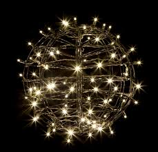 led brown wire sphere