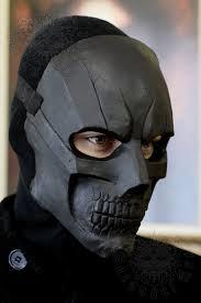 Black Mask Halloween Costume Custom Design Black Mask Handmade U0026 Paint Fiberglass Mask