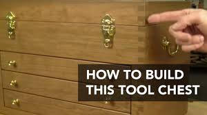 build this classic tool chest wood toolbox project plan youtube