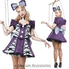 Halloween Costumes Broken Doll Ca112 Marionette Puppet Dress Broken Doll Ragdoll Horror