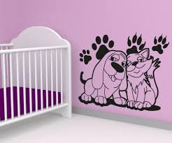 animal decals for walls animal vinyl wall decals vinyl wall decal sticker dog and cat best friends os aa606