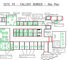 site 74 fallout bunker site plan map idea by razordraac on