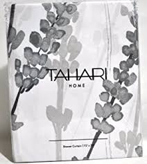 Luxury Shower Curtain White Cotton Amazon Com Tahari Luxury Cotton Blend Shower Curtain Blooming
