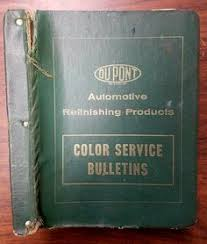 dupont duco automotive paint color chip reference book 1946 1961