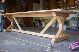 Kitchen Chronicles Building A Fancy X Farmhouse Table Farmhouse - Farm table design plans