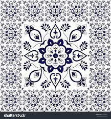 Tile Floor In Spanish by Winter Tiles Floor Floral Pattern Vector Stock Vector 719765347