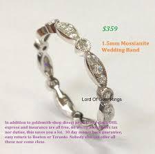 toronto wedding bands 359 moissanite wedding band eternity anniversary ring 14k