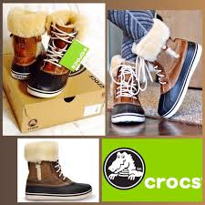 womens duck boots size 12 crocs nwt crocs s allcast luxe duck boot from thia s
