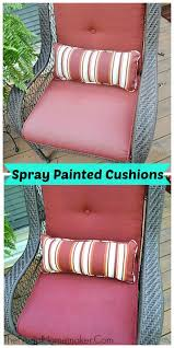 Diy Patio Cushions Diy Saturday Spray Paint Those Old Faded Outdoor Cushions A