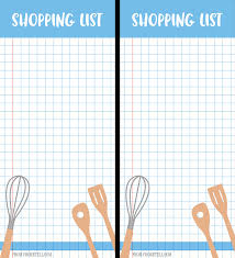 printable grocery shopping list and non grocery list free