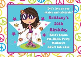 roller skating birthday invitations choice image invitation