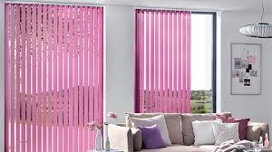 Pink Vertical Blinds Draw Vertical Blinds With Wand Control