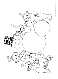 teletubbies color coloring pages kids cartoon